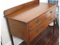 Attractive antique table/chest with 1 large , 2 small drawers