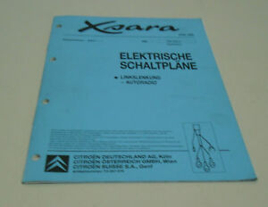 workshop manual electricity wiring diagrams citroen xsara stand 06/1999