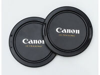 58mm snap on and centre pinch lens caps for canon lenses