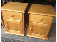Pair Of Bedside Cabinets, New & Unused.