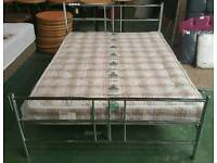 Brand new boxed crome style double bed frame only can deliver 07808222995