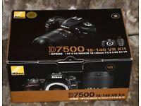 Nikon D7500 Digital SLR Camera with 18-140mm Lens Kit Brand new in Box Never Used