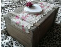 Wooden Wedding Keepsake Box, 12''