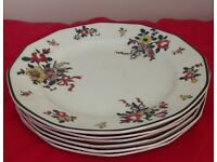 Old Leeds Sprays side plates | Vintage Royal Doulton