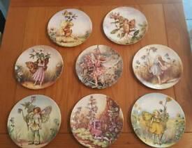 6 Wedgwood flower fairy plates