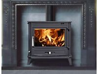 Stove. Cast Iron. 11kw. Multi-fuel. £375. Delivery £20.