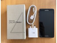 Samsung Galaxy Note 4 Black 32GB, boxed with original charger and cable