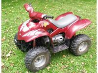 Apache 100 RLX 2 stroke quad atv. CVT gearbox. Electric start. Front and rear lights.