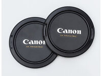 67mm Centre Pinch and snap on lens caps for Canon lenses