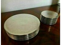 Sensible Offers... Fine Quality Silver Plated Heavy Place Mats and Coasters