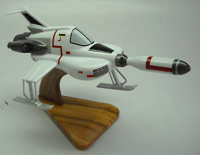 Moonbase Interceptor Anderson UFO Spacecraft Mahogany Wood Model Large New for sale  Shipping to United States