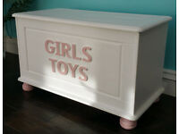 Girls Designer Crowns Jewels & Tiaras Drawers & Toy Box - Solid Wood from Something Special