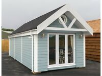 31'x12' 1 BEDROOM BEACH HUT BUILT TO BUILDING REGULATION STANDARD