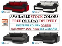 BRAND NEW SOFA BED & SOFA CORNER BED SLEEP FUNCTION SPRINGS 2 STORAGES 5 PILLOWS FREE 1-DAY DELIVERY