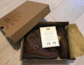 UGG Harwell Leather Biker Boots Boxed Child Size 11