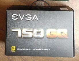 EVGA 750 GQ Modular Gold Rated 80+ Power Supply