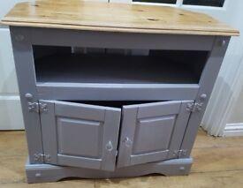 solid wood storage tv unit
