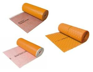 Schluter DITRA DRAIN Membrane 10M / 25M, Troba RO 215 sq ft / Troba MA 10.7 sq ft Sheet, Troba Plus 134.5 sq ft