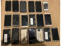 Joblot 19 Samsung mobile phones untested spares or repair parts