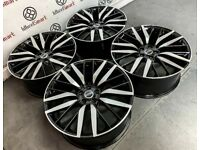 """NEW RANGE ROVER SVR 22"""" STYLE ALLOY WHEELS -AVAILABLE WITH TYRES -GLOSS BLACK DIAMOND CUT"""