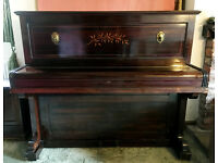 John Broadwood & Sons London Cottage Upright Piano Circa 1896 for Restoration