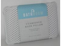 NEW Premium Quality White Padded Bath Pillow Cushion