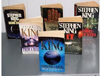 SELECTION OF STEPHEN KING PAPERBACK BOOKS, PRICED PER SIX AND INCLUDES POSTAGE