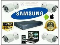 SAMSUNG Smart HDS - 4 Camera CCTV System FULL HD 1080p complete DIY kit