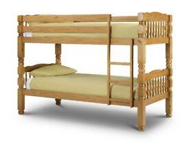 Julian Bowen 3FT Single Chunky Bunk Bed in Solid Pine