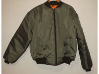 Men's bomber classic jacket Size L, like new!