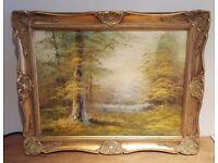 Framed oil paintings/prints