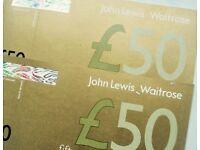£100 John Lewis vouchers