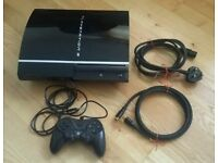 Playstation 3 console, including wired controller, power cable and HDMI cable