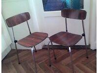 PAIR of RETRO 50s/60s Kitchen Chairs TAVO