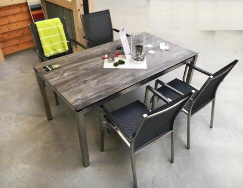 Stuhl gartenmöbel stern edelstahl textilen 700m2 ausstellung in westerstede