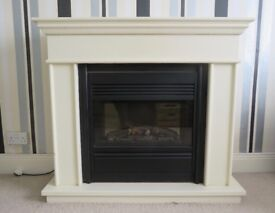 CAMBRIDGE DELUXE ELECTRIC FIRE SUITE. REDUCED PRICE.