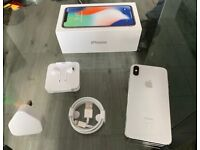 Silver Apple Iphone X 256GB Factory Unlocked To All Networks + Warranty