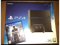 BRAND NEW SEALED SLIM PS4 500GB WITH EXTRA CONTROLLER & UNCHARTED 4 GAME