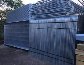 ⛓ TEMPORARY ROUND TOP HERAS FENCING SETS X 35 - PANELS/ FEET/ CLIPS - NEW