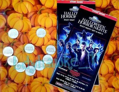 Halloween Horror Nights 4 Map (10 2018 HHN 28 Halloween Horror Nights Tokens 4 Brocuhure Maps Universal)