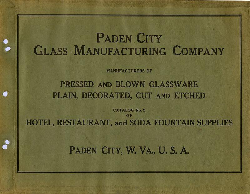 Paden City Glass Company ca. 1934 catalog reprint