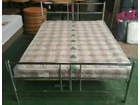 Brand new boxed crome style double bed can deliver 07808222995