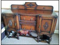 Beautiful Edwardian Sideboard / Dresser