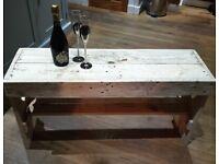 Pallet wood bench seat