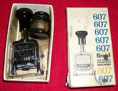 Vintage Bostitch Regal 607 Six Wheel Numbering Machine Wink Bottle