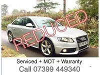 09 AUDI A4 S LINE 2.0 TDI 4dr - Including a Free 6 Month Warranty & AA Cover