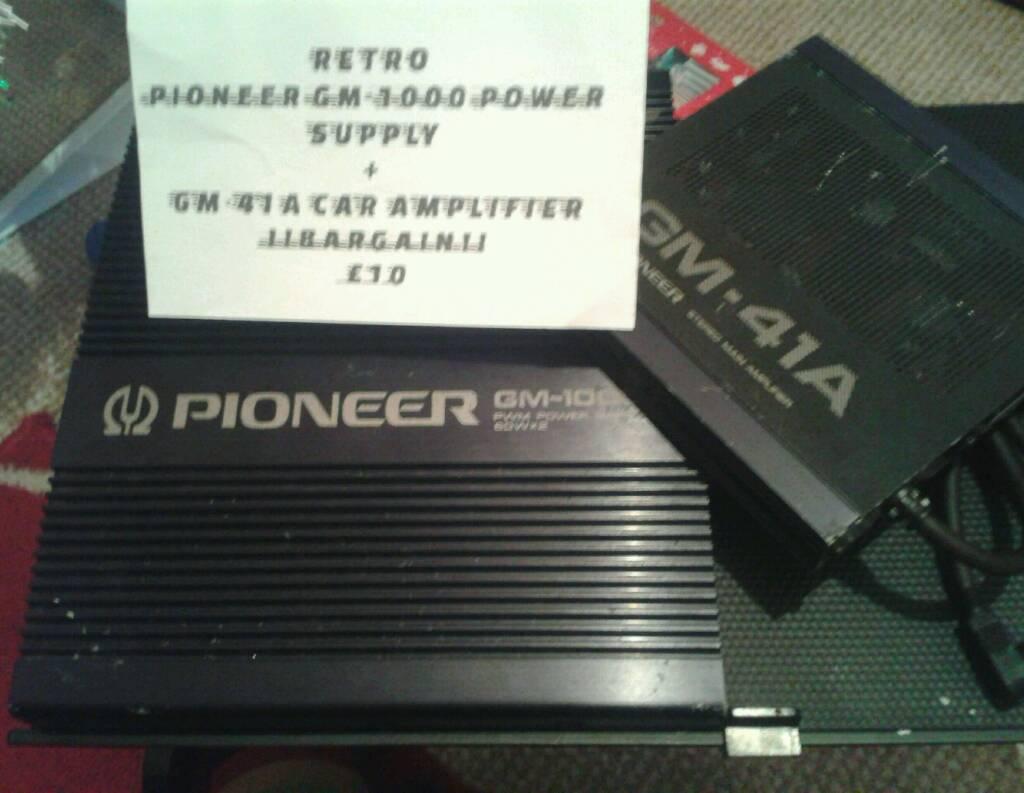 pioneer gm 1000 pioneer gm 41a car amplifier retro in hedge pioneer gm 1000 pioneer gm 41a car amplifier retro