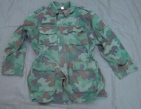 SERBIAN ARMY (Oakleaf) CAMOUFLAGE PARKA with fleece liner
