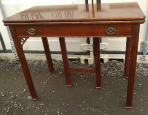 Oakville DINING & WRITING DESK TABLE Convertable Antique Solid Wood Red mahogany Expandable Kitchen Office