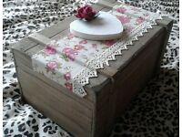 Wooden Wedding Keepsake Box, includes wedding bag